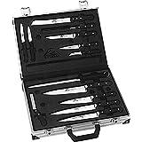 Stubai 765613 - Maleta de cuchillos de aluminio, completa, con fundas, 13 piezas