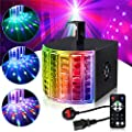 Disco Lights, Gvoo Sound Activated Party Light DMX512 LED Stage Projector with Remote Control for Home Outdoor Holidays Parties and Birthday