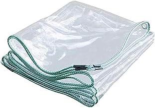 Transparant waterdicht zeildoek verdikt PVC-zeil met metalen oog Tuindak Buiten Beschermende regenhoes 0,3 mm dik 400 g/m²