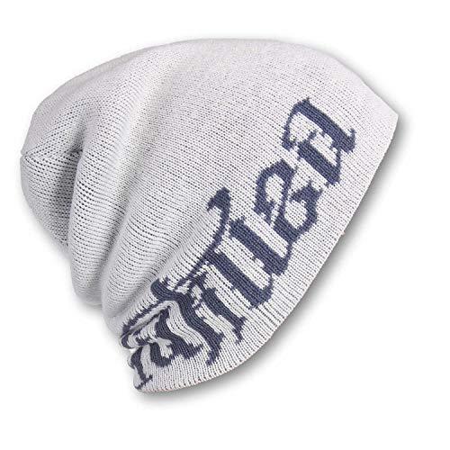 Yakuza Unisex Tab Branding Reversible Beanie Mütze, Weiß//BAU, Einheitsgröße