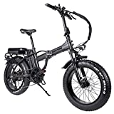 Rattan 48V 750W Electric Bike for Adults 4.0 Fat Tire Bikes Folding Bikes 13AH Removable Lithium-ion Battery E-Bikes Shimano 7-Speed Shifter Electric Bicycle High/Low Step Across ebikes