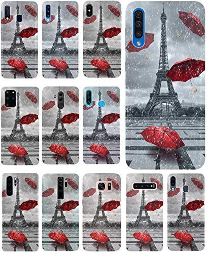 KUMO Hülle für Lenovo K5 Handyhülle Design 1107 Eifelturm Paris Frankreich aus flexiblem Silikon SchutzHülle Softcase HandyCover Hülle für Lenovo K5