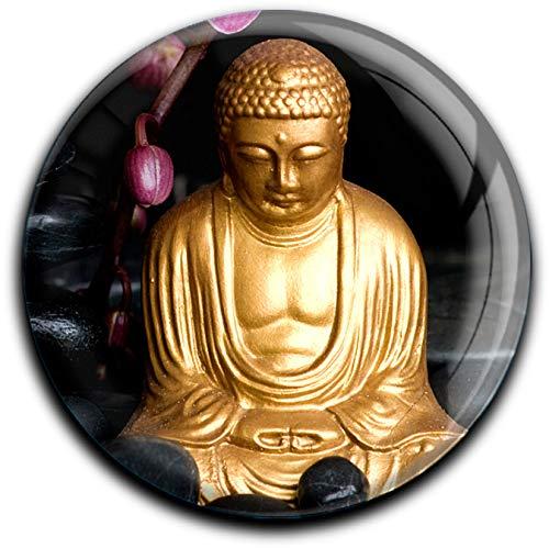 metALUm runder Acrylmagnet mit starkem Neodym - Magnet Buddha #1301010