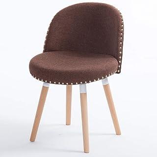 LKH Sillas de Cocina, sillas for Sala de Estar, el Simple Montaje de sillas Modernas, Silla de Comedor Individual, Tacto Suave, una Buena transpirabilidad, fácil de cuidar - 3 Colores Disponibles