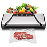 Vacuum Sealer, 4-in-1 Automatic Food Saver with Cutter, Stainless Stee Vacuum Packing Machine for Dry&Moist Food (TVS-2019)