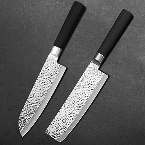 Juego de cuchillos Cuchillo de cocina Conjunto Cuchillo de cocina Cuchillo de carne Cuchillo de pelaje de fruta Acero inoxidable Cuchillo de chef (Color : 77 SET)