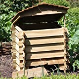garden mile® Large 330L Wooden Beehive Composter Garden Bin Eco Friendly Organic Recycling Garden Leaves Waste Disposal Rubbish Garden Compost Box