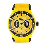 B360WATCH Unisex Orologio da polso Large, 5bars al quarzo in silicone B CLASS IB Yellow L