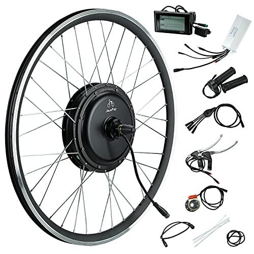 JauoPay 48V 2000W Electric Bicycle Conversion Kit LCD(SW900) 700CC(NOT 26') E-Bike Rear Wheel Direct Drive Waterproof Electric Bike Conversion Kit