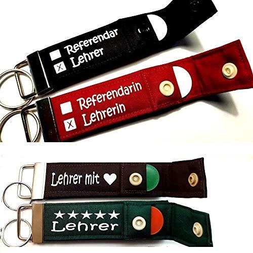 REFERENDAR & LEHRER Schlüsselanhänger mit Chip persönliches Geschenk zum Abschied für Pädagogen Lehrerin Schlüsselband Referendariat Lehramt 1 STÜCK