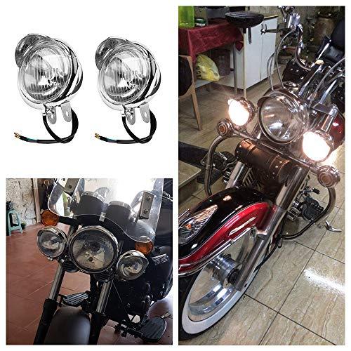 Tookss 12 V Universal Chrom Farbe ABS Motorrad Nebelscheinwerfer Scheinwerfer Lampe 1 Paar