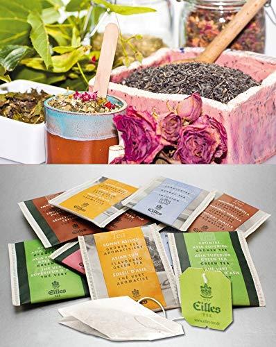 FRUCHT & KRÄUTER Tee-Probierpaket von EILLES TEE mit gratis Teeglas und großem Gourvita Cookie