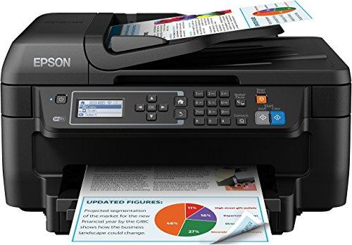 Epson WorkForce WF-2750DWF 4-in-1 Multifunktionsdrucker (Drucken, Duplex, Scannen Kopieren, Faxen, Dokumenteneinzug) schwarz
