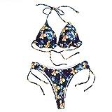 Conjunto De Bikini para Mujer, 2 Piezas, Cintura Alta, Cuello En V Profundo, Talla Grande, Traje De BañO Acolchado para Mujer