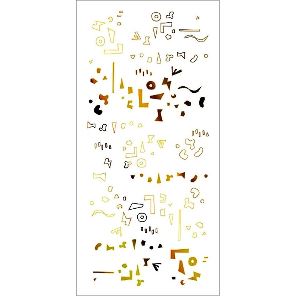 呼ぶコイルコンパクトツメキラ(TSUMEKIRA) ネイル用シール カタチの群れ ゴールド SG-HOK-102