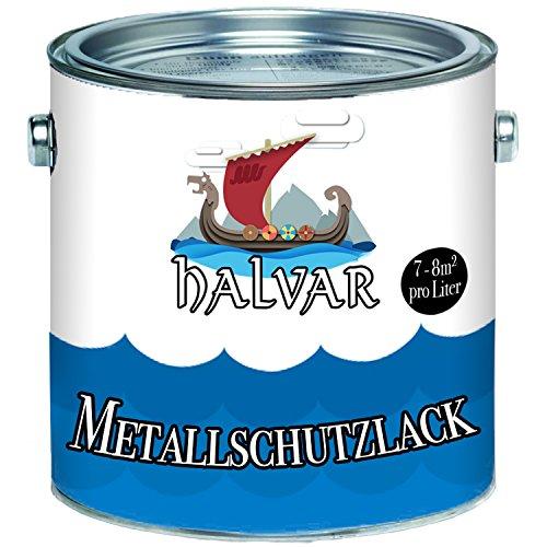 Halvar Metallschutzfarbe skandinavischer Metallschutz-lackbesonders robuster KunstharzlackStark Wetterbeständig und ein perfekter Langzeitschutz für Holz und Metall (Schokoladenbraun (RAL 8017))
