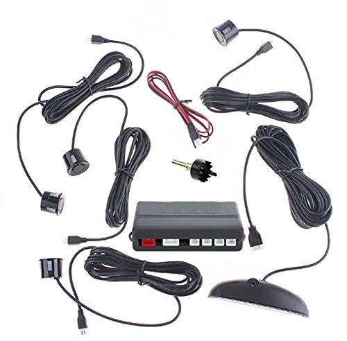 Auto Parktronic LED display détecteur de moniteur de parking Radar de sauvegarde Système de recul avec 4 capteurs de stationnement de voiture – Noir