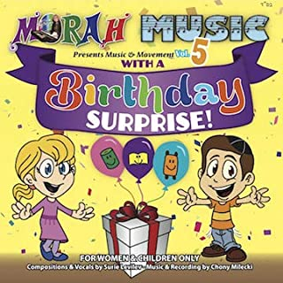 Music & Movement Birthday Surprise CD / Excellent Mix of Fun Games, Exciting and Educational Songs for Children, Perfect for Birthdays and All Year Round