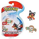 Pack de deux figurines Pokémon Personnages Brindibou et Flamiaou Figurines articulées 3-5 cm Collectionnez toutes les figurines Pokémon de Bandai