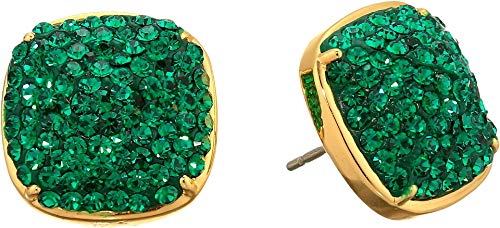 Kate Spade New York Clay Pave Small Square Studs Earrings Emerald One Size