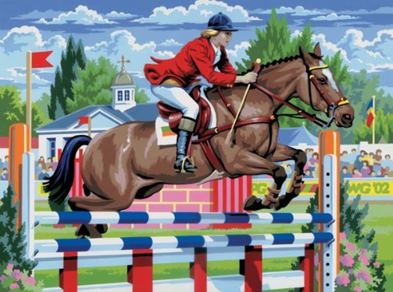 Royal & Langnickel Painting by Numbers Junior Large Art Activity Kit, Show Jumping