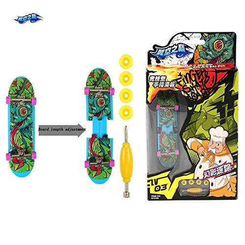 Finger Mini Skateboarding Huanying Mizong, New Telescopic Board Body,Deck Truck Finger Board Park Finger Training Kit, Kids Puzzle Educational Toys, Best Gifts