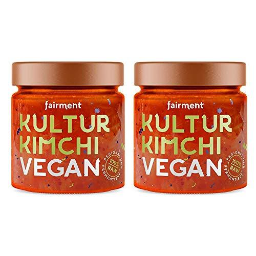 Fairment Kultur Kimchi vegan - lebendiges Bio-Kimchi im Glas mit Chinakohl nach koreanischem Rezept - natürlich fermentiert und nicht pasteurisiert