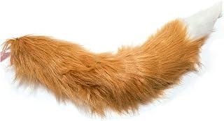 Globe.f.C (グローブ・エフ・シー) コスプレ 狐 しっぽ 耳 白 茶 カチューシャ ヘアピン もふもふ 45-95cm (しっぽ 75cm)