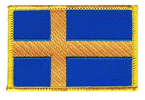 Flaggenfritze Flaggen Aufnäher Schweden Fahne Patch + gratis Aufkleber