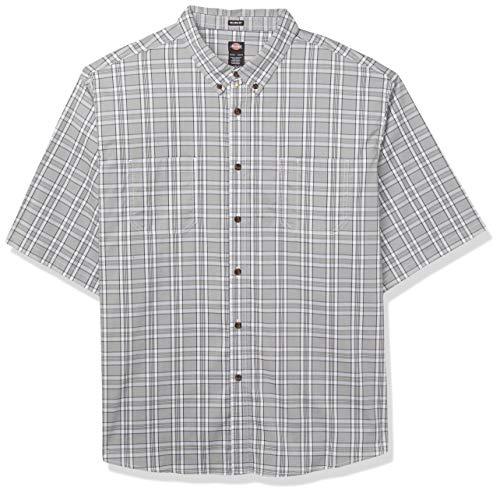 Dickies Herren Men's Short Sleeve Flex Woven Shirt Relaxed Fit Work Utility Hemd, blau, Klein