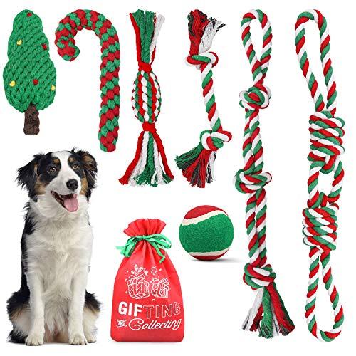 Dreamon Weihnachten für Hund, Hundespielzeug Welpenspielzeug Set Unzerstörbar Stofftier Kauspielzeug für Kleine Große Mittelgroßen Hund