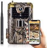 SuntekCam App Live Video Cámara de Caza Vigilancia 30MP 4K con Diseño Impermeable IP66 Cámara de Fototrampeo con Detección de Acción LED IR Sin Brillo para Fauna Seguridad Hogar Mascota Animal 900pro