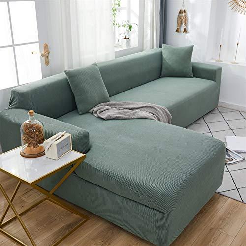 kengbi Funda de sofá duradera y fácil de limpiar con esquinas elásticas de terciopelo para sofá de sala de estar, fundas de sillón, fundas modernas en forma de L de 1/2/3/4 plazas
