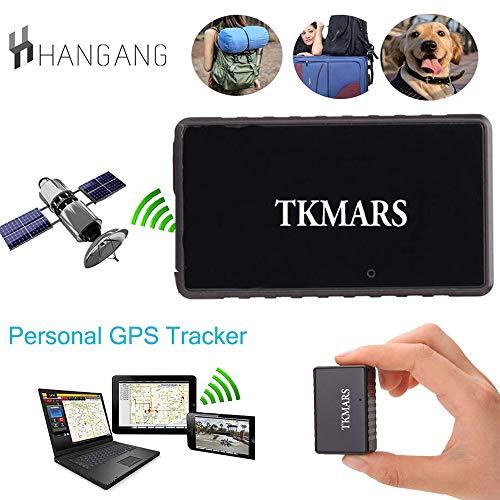 Mini GPS Tracker, TKMARS GPS per Auto Localizzatore in tempo reale Anti Loss Spia Con il Buco Della Serratura con App gratuita GPS Bambini 1000 mAh Standby 15 giorni (TK902)