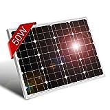 DOKIO Pannello Solare 50w 12V Monocristallino Fotovoltaico Impianto Camper Casa Baita