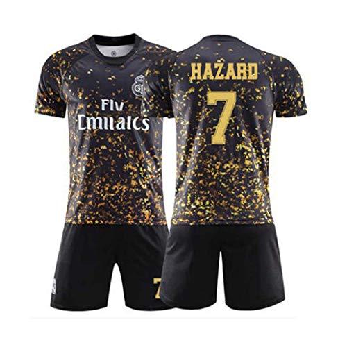 Crstal 7# Hazard Fußball Jersey & Shorts, Neue Saison Personalisierte Fußball-T-Shirt Herren Kinder Jugend (Size:Klein)