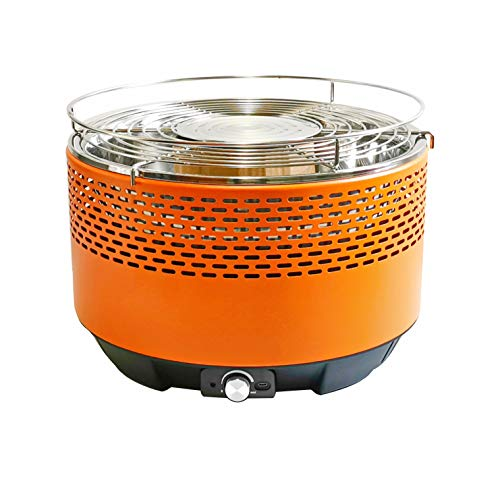 Barbacoa de carbón portátil para barbacoa, sin humo, ventilador de mesa eléctrico,...