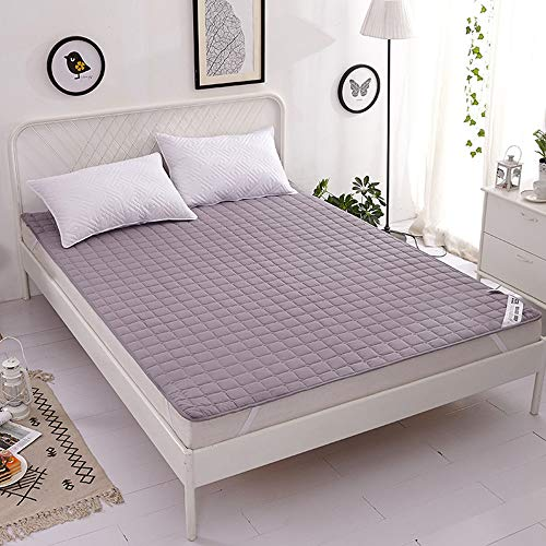 Korean Style Tatami Mattress,Thin Soft Mattress Protector, Non-Slip Mattress Topper,Portable Comfortable Mattress Cover,Breathable Mattress Topper,gray,180x200cm