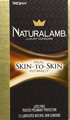 TROJAN NaturaLamb Luxury Lubricated Natural Skin Condoms 10 ea