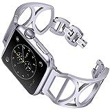 Martwatch Wristband, Compatibile con Cinturino di Apple 40mm 44mm, Sostituzione Stainless Steel Band per iWatch Serie 1/2/3/4,Argento,44MM