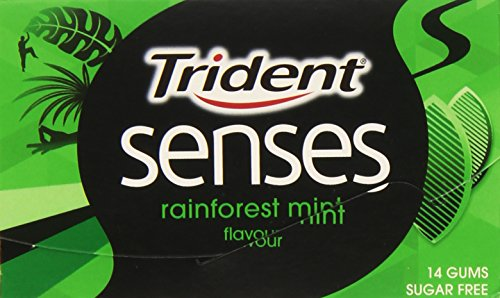 Trident - Senses Rainforest Mint - Chicle con sabor a hierbabuena - 14 chicles