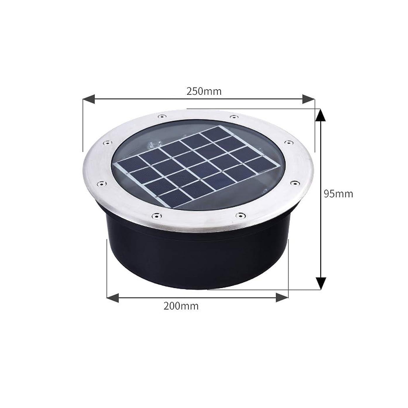 シャッター豆玉ZXH 6色ソーラー埋設ライトLED、屋外ランプ防水LEDソーラーパスライト庭の庭のスパイク照明庭のドライブウェイ芝生の通路 (Color : 8W, Size : Blue light)