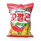 Korean Lotte Popping Corn Chips (Original-Red-144g)