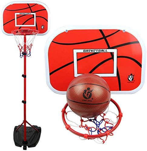 LNLJ Juego de soporte de plástico para baloncesto 2 en 1 tablas portátiles de baloncesto – soporte/pared, altura ajustable de 105 a 200 cm, juguetes divertidos para niños en interiores y exteriores
