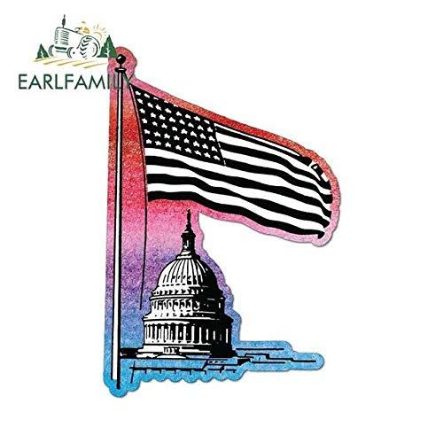 A/X Autoaufkleber ARLFAMILY 13cm x 8.8cm Lustige Autoaufkleber Amerikanische Flagge Weißes Haus USA Grafik Aufkleber Wasserdichtes Surf Travel Car Zubehör