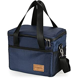 TOMSHOO Insulated Bag Large Capacity Insulated Lunch Bag Reusable Foldable Cooler Tote Grocery Bag Portable Outdoor Picnic Food Delivery Carrier Bag Box for Camping Hiking Car Trip