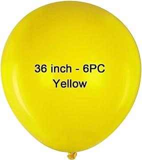 36 inch Yellow Latex Balloons Large Round Balloon Giant Latex Balloons Jumbo Big Balloons for Birthday Wedding Party Decor...
