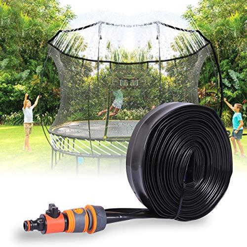 Qdreclod Trampolin Sprinkler Trampolin Wassersprinkler für Kinder Trampolin Spielzeug Spray Wasserpark Spaß Outdoor Trampolin Sprinkler Wasserpark für Jungen Mädchen