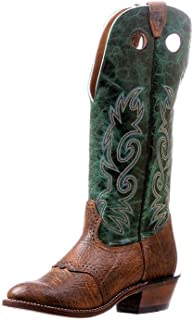 American Boots–Cowboy Boots bo-5244-e (Normal)–Men–Brown Leather/Green