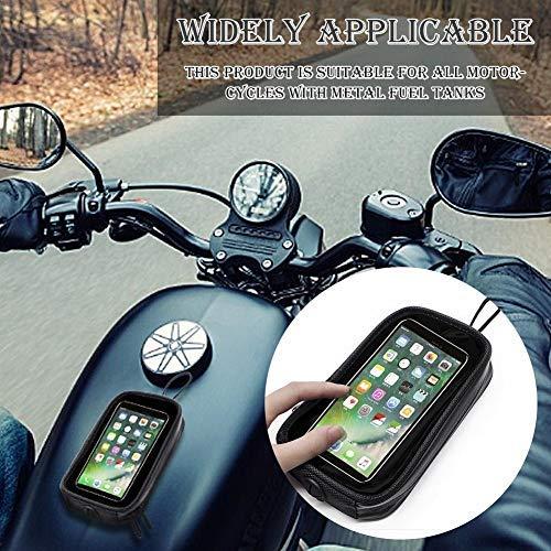 Dubleir Motorrad-Tankrucksack Motorrad Handytasche Tankrucksack für Motorrad mit Transparent Fenster für Handy, Motorrad Magnet Tanktasche mit 7PCS Starke Magnete